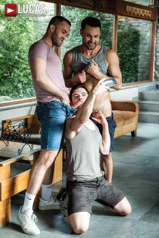 James Castle, Jackson Radiz, Dakota Payne | Raw Threeway - Gay Movies - Lucas Entertainment