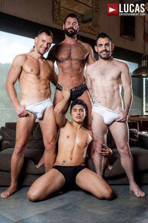 Max, Andrey, Victor, Ken | Raw Bros Foursome - Gay Movies - Lucas Entertainment