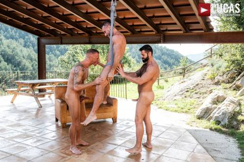 Logan Rogue And Victor D'Angelo Fuck Manuel Skye - Gay Movies - Lucas Entertainment