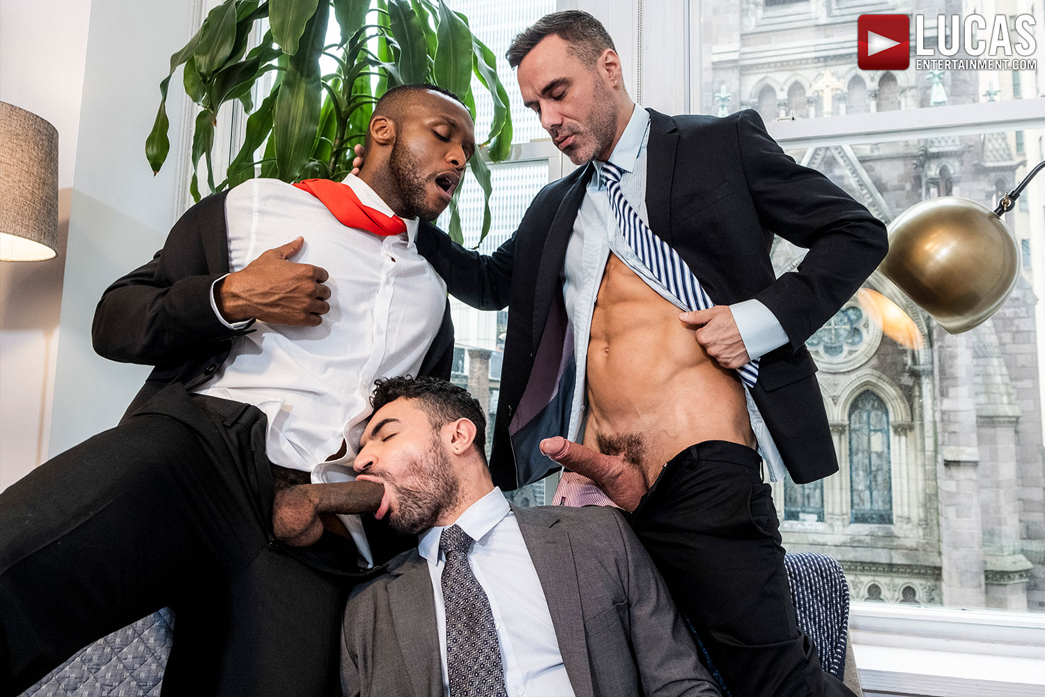 Manuel Skye And Andre Donovan Double-Fuck Ian Greene - Gay Movies - Lucas Entertainment