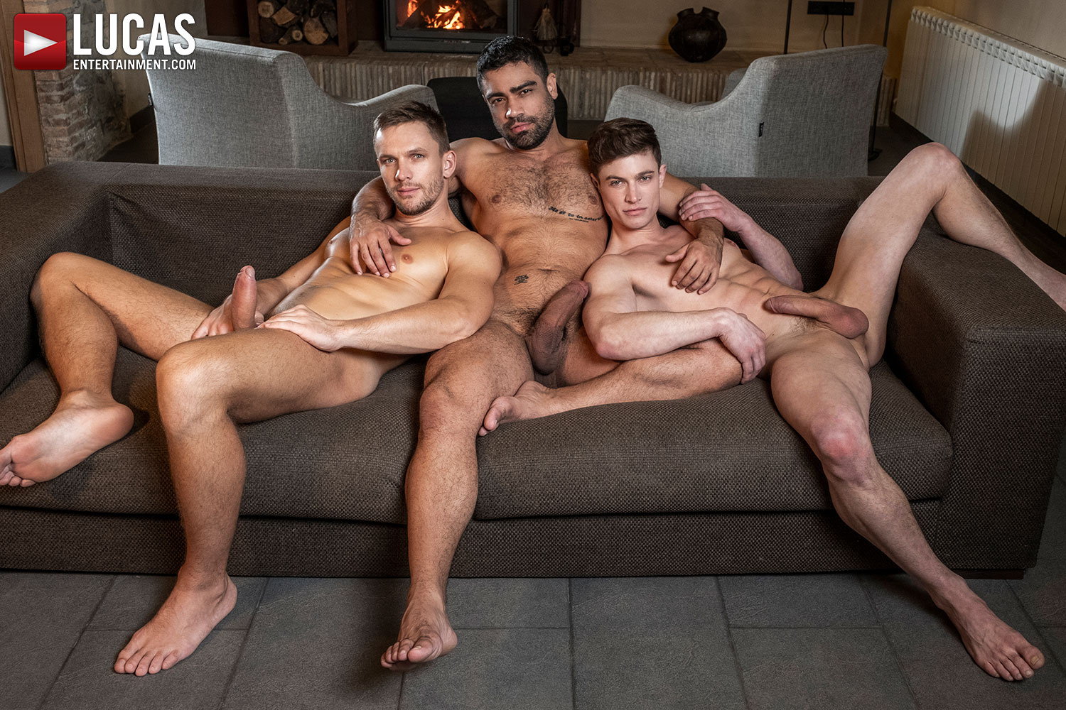 Andrey Vic And Wagner Vittoria Double-Team Ruslan Angelo - Gay Movies - Lucas Entertainment