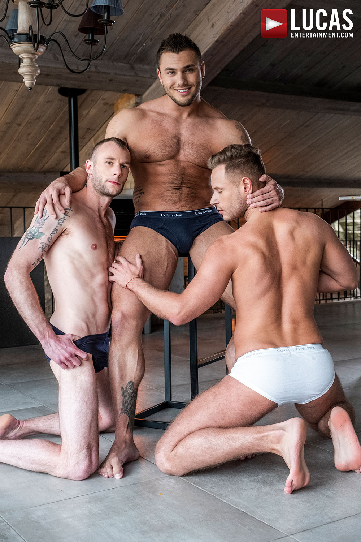 Brock Magnus And Guillaume Wayne Split Yuri Orlov In Two - Gay Movies - Lucas Entertainment