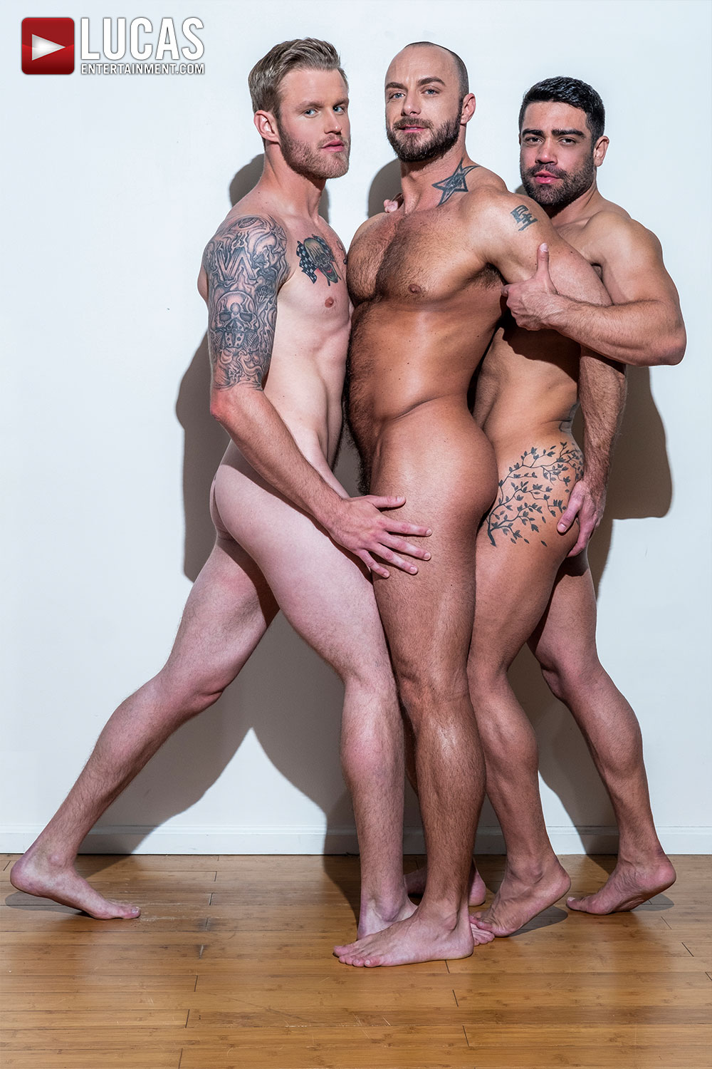 Jessie Colter Takes Wagner Vittoria and Shawn Reeve's Raw Cocks - Gay Movies - Lucas Entertainment