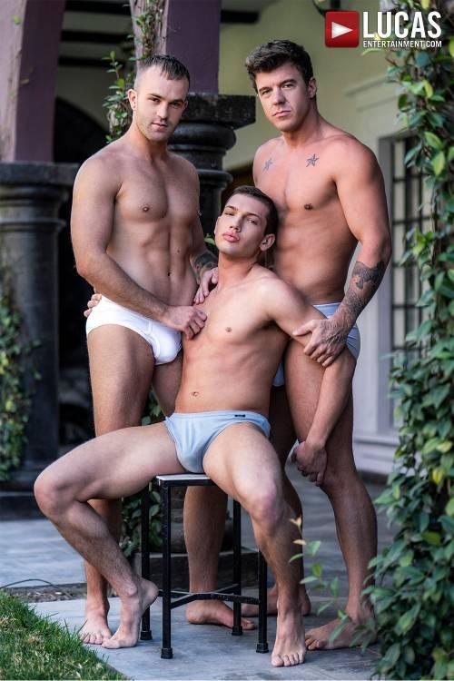 Jackson Radiz And JJ Knight Spit-Roast Hunter Smith - Gay Movies - Lucas Entertainment