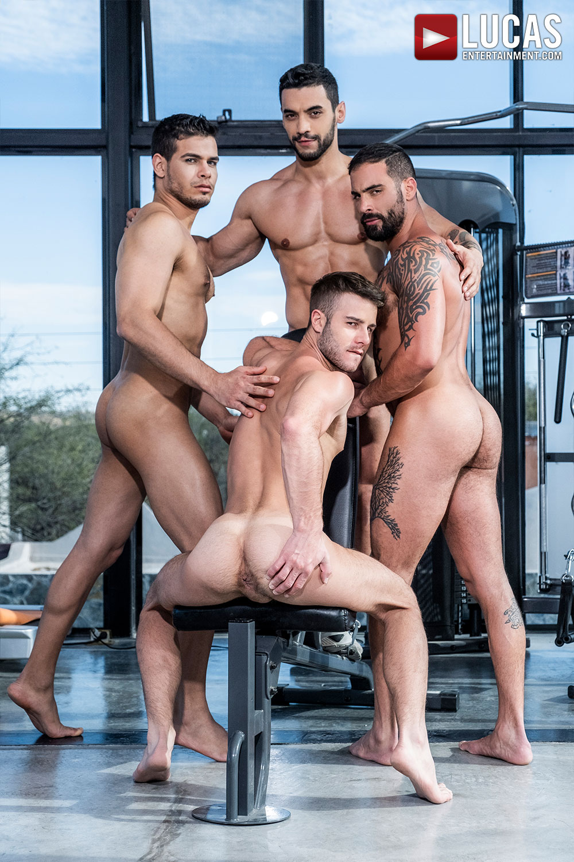 Arad Winwin, Rico Marlon, And Edji Da Silva Pass Around Allen King - Gay Movies - Lucas Entertainment