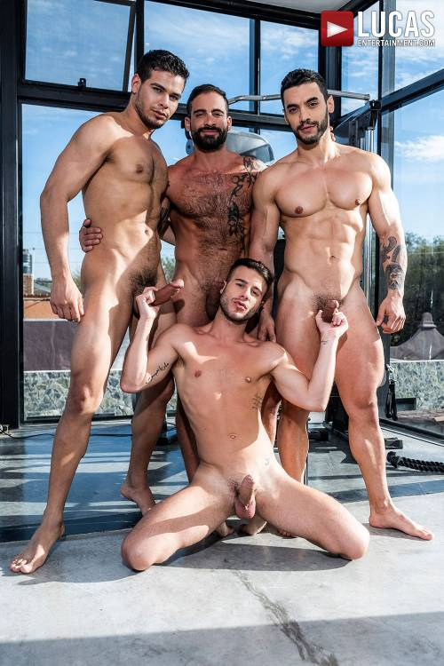 Arad Winwin, Rico Marlon, And Edji Da Silva Pass Around Allen King - Gay Movies - Lucas Entertainment