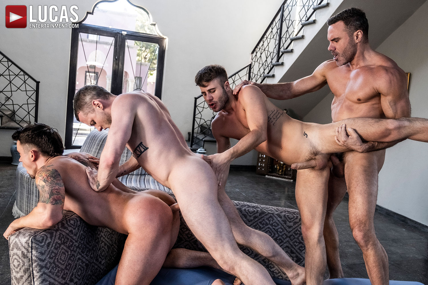 Join The Sweaty All-Star Orgy (Part 01) - Gay Movies - Lucas Entertainment
