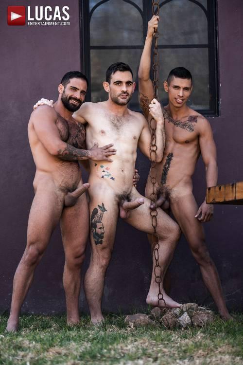 Max Arion And Edji Da Silva Punish Max Avila's Ass - Gay Movies - Lucas Entertainment