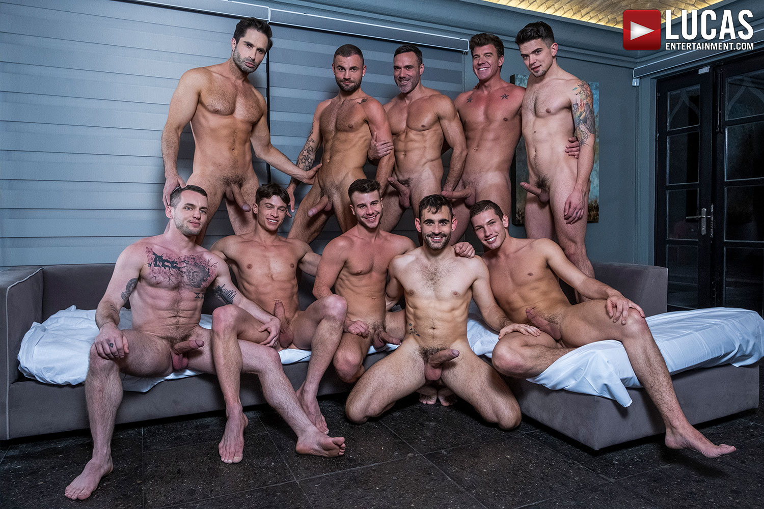 Join The Sweaty All-Star Orgy (Part 02) - Gay Movies - Lucas Entertainment