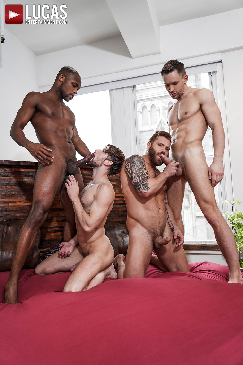 Extreme Double Penetration | Andrey, Drew, Riley, Andre - Gay Movies - Lucas Entertainment