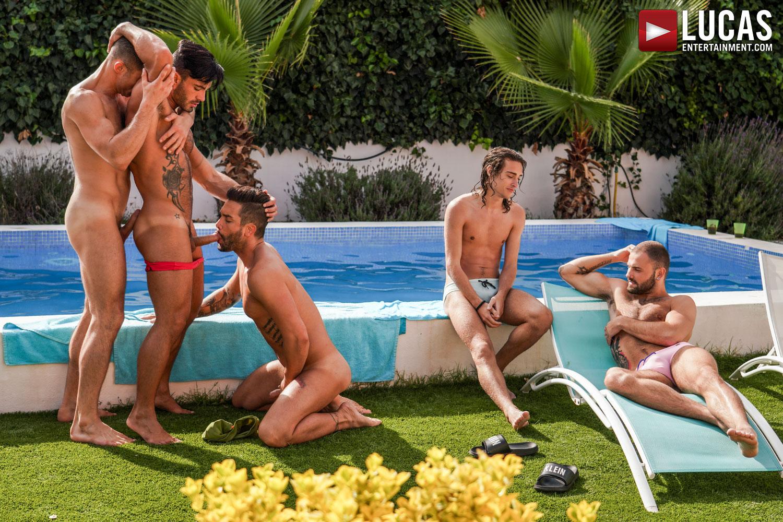 Pelicula Porno Party bareback pool party | gay porn movies | lucas entertainment