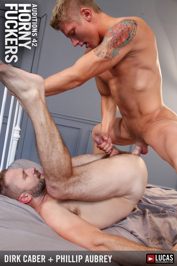 Burly Hunk Dirk Caber and Phillip Aubrey Fuck Each Other - Gay Movies - Lucas Entertainment