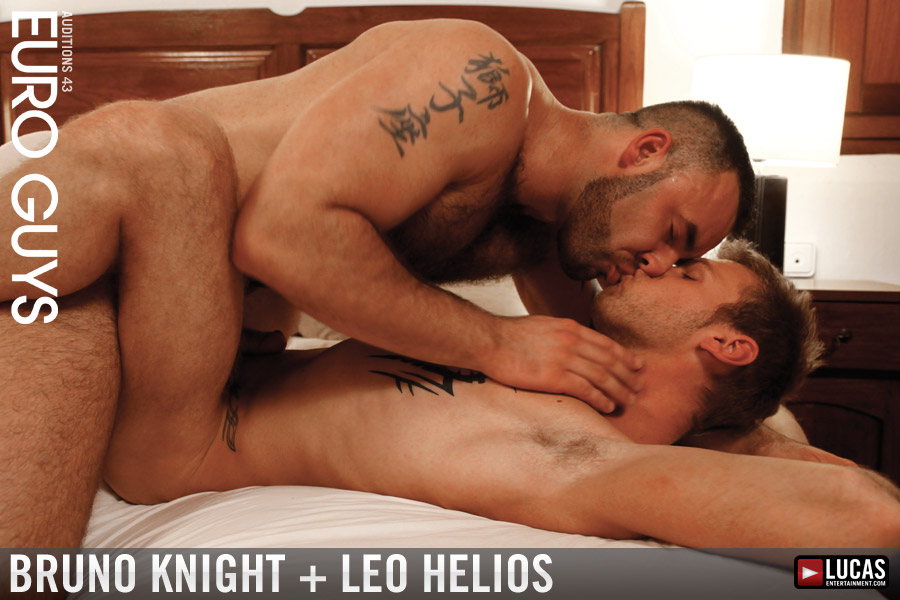 Bruno Knight Hammers Blond Hottie Leo Helios - Gay Movies - Lucas Entertainment