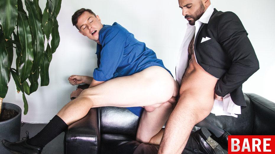 Business men having gay sex
