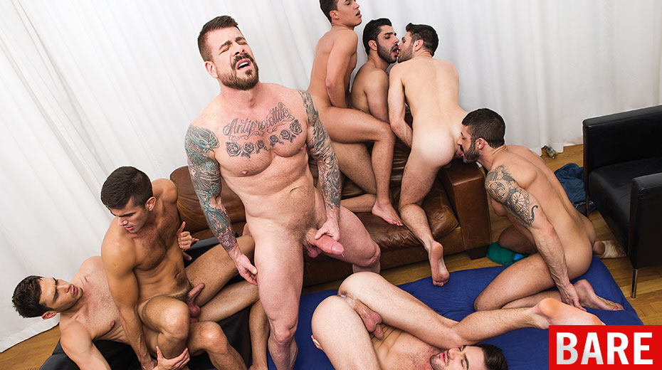 Gay Men Orgy
