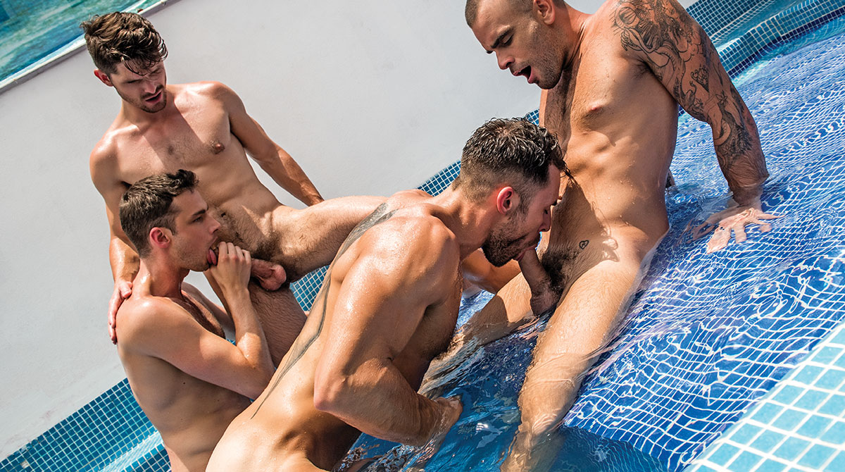 Hot boys throw an orgy