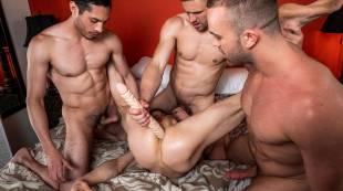 Andrey Vic, Jackson Radiz, Ruslan Angelo, Ashton Labruce   Bareback Four-Way