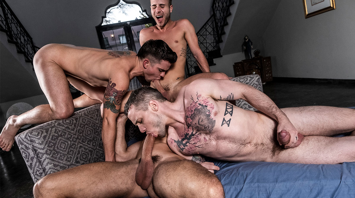 Man joins an orgy gets fucked