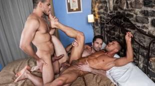 Klim Gromov Rides Michael Lucas And Rico Marlon