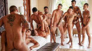 The Lucas Men's Hot-And-Heavy Orgy | Part 02