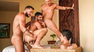 Sir Peter, Isaac X, Valentin Amour, Joaquin Santana | Gay Cuckolds And Alpha Bulls