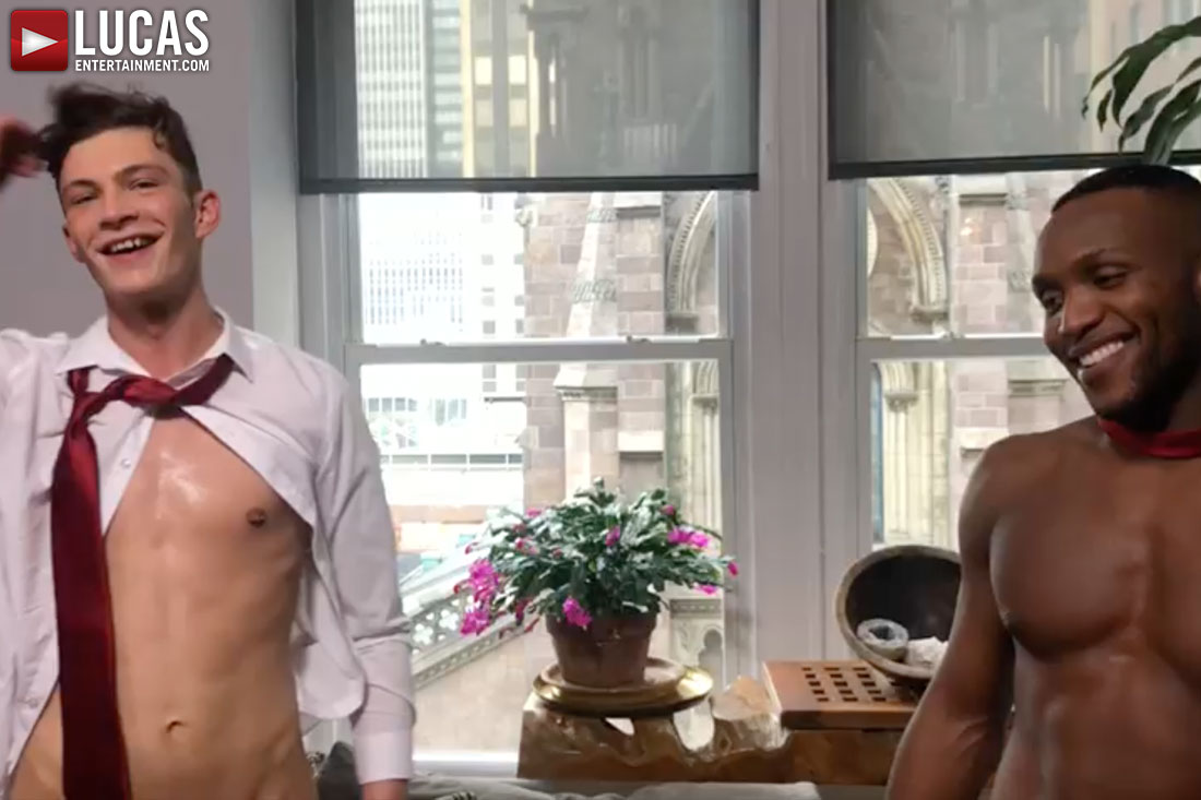 Braxton Boyd And Andre Donovan Compare Dicks On The Set